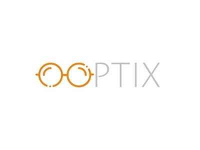 Optix Ophthalmologists Logo grey orange eyewear glasses ophthalmologist ophthalmology logo