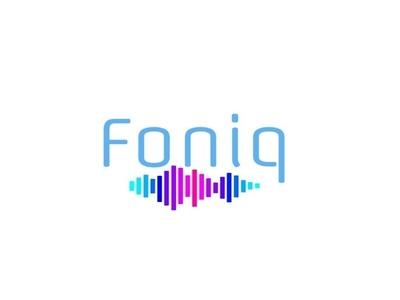 Foniq Music Logo pink purple teal blue music player logo music logo music logo