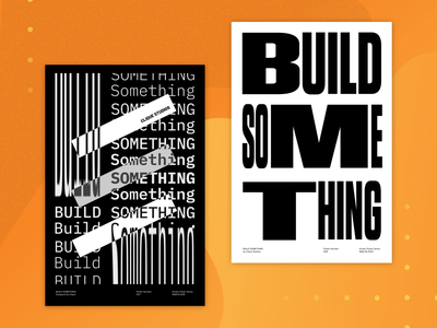 Build Something - Kinetic Posters 007 & 008 after effects type poster kinetic poster poster design animation