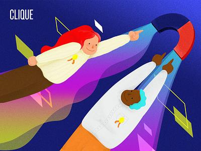 Magnetic Membership Marketing eBook magnet people membership marketing cover colorful illustration ebook