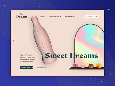 3D Challenge: Dreams dreams inspiration homepage practice webdesign cinema 4d c4d 3d challenge