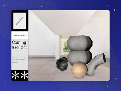 3D Challenge: Toys website shapes workshop web design practice homepage design challenge brutalist cinema 4d c4d 3d toys