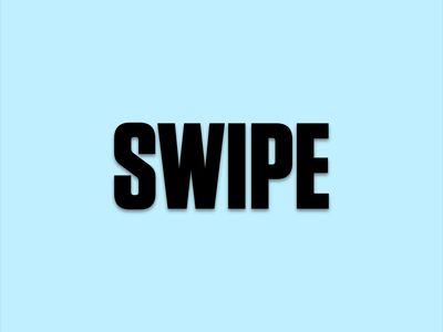 Animated Type Challenge: Swipe pracitce workshop kinetictypography tutorial after effects motion graphics kinetic type kinetic challenge after effects animation animated type animated poster after effects swipe