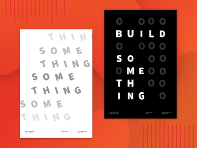 Build Something - Kinetic Posters 013 & 014 type poster poster kinetic type expressions animation after effects