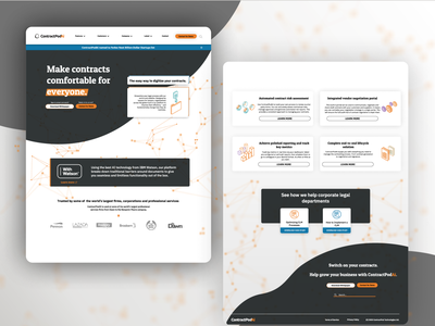 Web Smart Contract Landing Page minimal grey orange website concept web designer website design concept landing page design web design website figma branding crypto ui landing page web