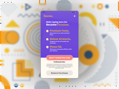 Mobile App Paywall purple gradient freelancer free trial subscribe ui subscribe button typography logo mobile app design typography purple mobile app app buttons design ui