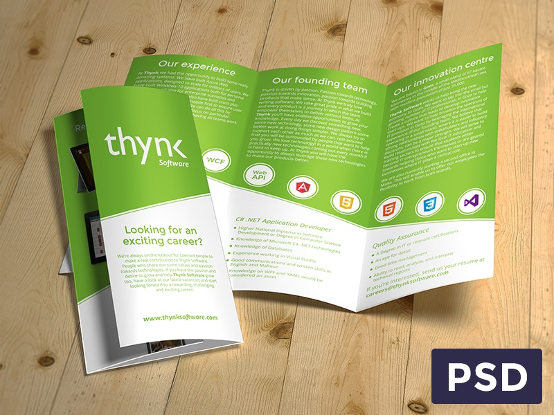 thynk software brochure 3 fold by christian agius dribbble