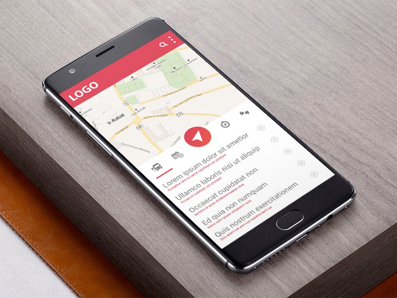Bus Android App On Oneplus 3 download freebie bus material design map mobile app android mockup device oneplus 3 oneplus