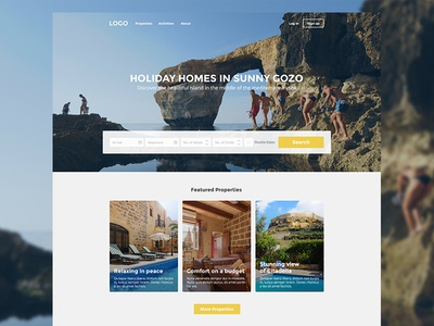 Holiday Homes in Sunny Gozo - Website