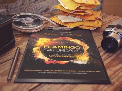 Flamingo Saturdays Poster