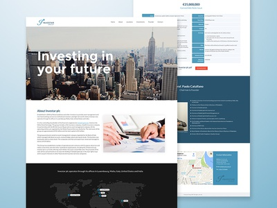 Investar Group - Landing Page