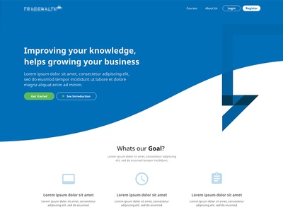 New Courses Landing Page