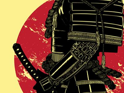 The Headless Samurai  vector illustration