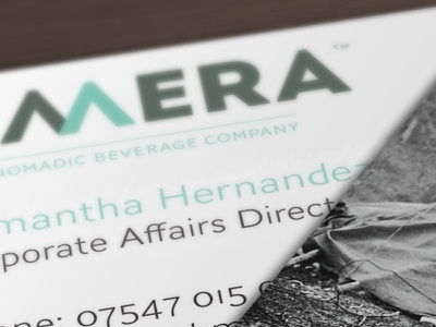 Kmera Business Cards drinks soft drinks iced tea branding brands logo business business card design business card
