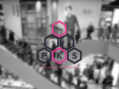 PKS Construction Design logo branding construction design uk