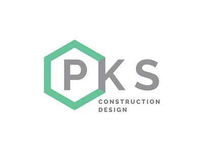 PKS Construction Design construction design logo concept branding