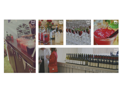 Infusion Bars second level homepage content instagram articles news posts website white space