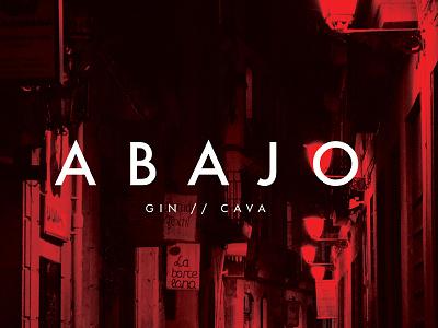 Abajo - Gin and Cava bar branding bcn barcelona logo branding food drink bar cava gin