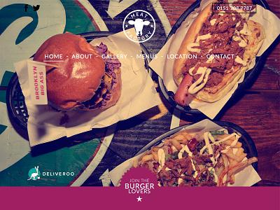 Meat Factory Liverpool Website drink food restaurant liverpool milkshake fries burgers website