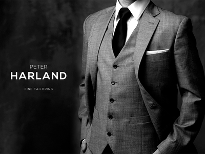 Tailor pitch visual logo branding tailoring clothes suit tailor
