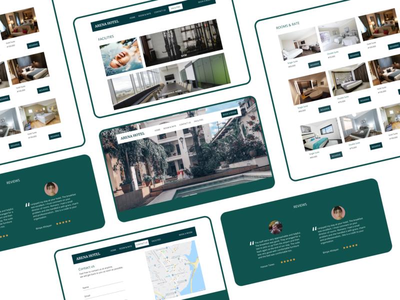ARENA HOTEL web design ux ui