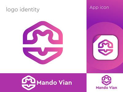 Modern logo design _Mando vian logo dribbble best short mando vian logo mando logo illustration design logo design logo branding professional logo minimalist logo modern logo app logo