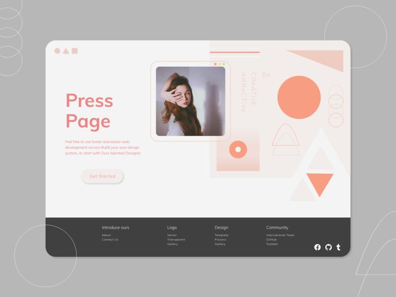 Daily UI :: 051 / Press Page
