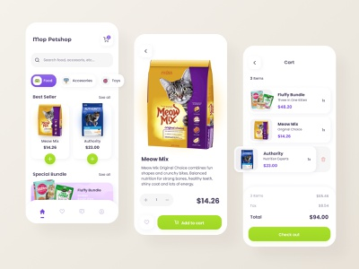 Mop Petshop App uiux uidesign minimal minimalist dog animal food cat animal pets petstore pet care pet petshop app petshop app mobile app mobile ui android app ios app
