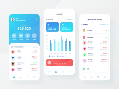 Finance App exploration design ui design ux ui android ios mobile app mobile money app money chart fintech wallet app wallet banking app finance app finance banking bank