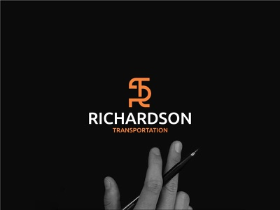 Richardson Transportation trucker hat travel shipping publictransport graphi design creative logo minimalist logo modern logo typogaphy brand identity design business logo awesome logo sports logo icon design monogram letter mark initials logo transportation love artwork adobe illustrator