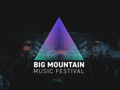 Thailand : Big Mountain Music Festival redesign graphic design logo