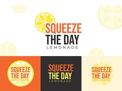 Squeeze The Day Lemonade illustration graphic design branding logo