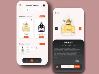 Perfume App uidesign uiux ui trendy design trendy trend product design product perfume minimal app design app 2020 trend