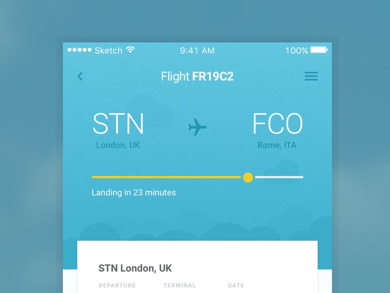 flight app idea by riccardo dribbble dribbble