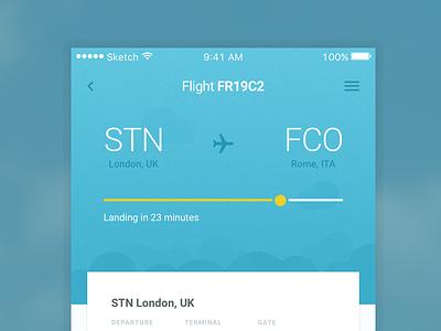 Flight App Idea tracker flight ui design mobile app