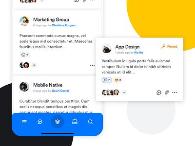 Collaboration App Concept - Mobile Version typography branding ux icons design mobile icons app design ui