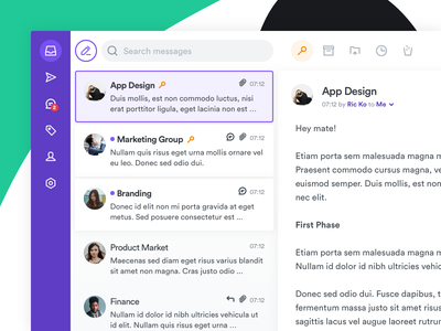 Inbox App Concept box mail box mail app inbox web typography sketch illustration icons set icons pack ux icons design icons app design ui