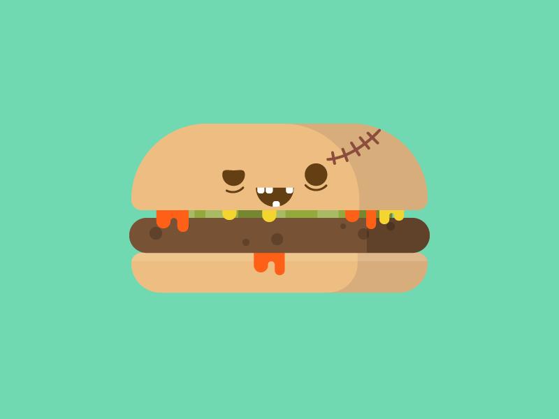 Zombie burger zombie halloween food burger