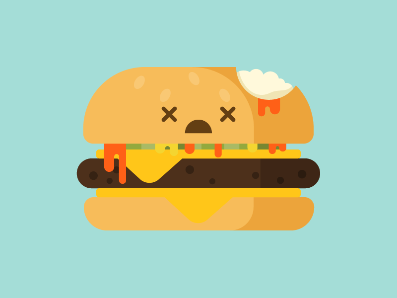 Infected burger halloween zombie illustration food pounder quarter burger