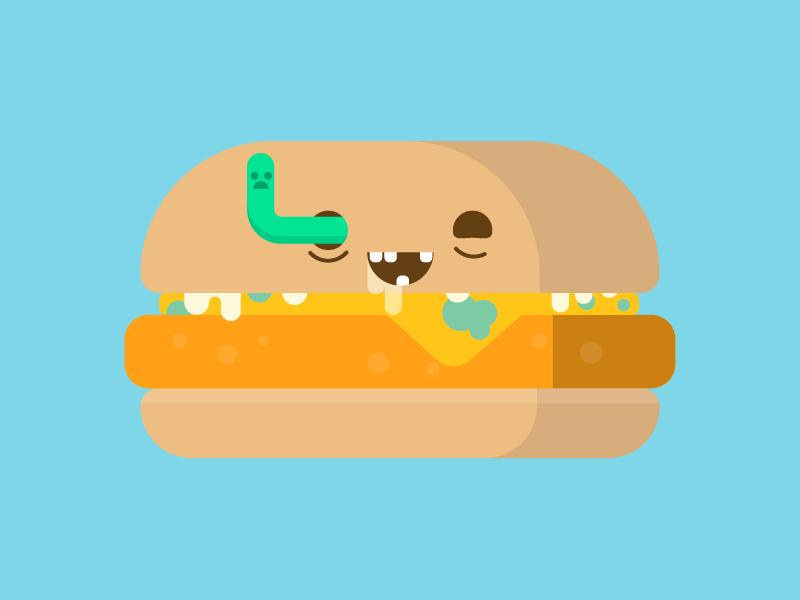 Happy Halloween illustration character food burger zombie halloween