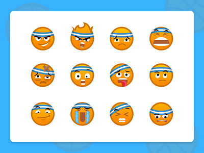 Baller Emoticons design smile cool illustration expressions character app sport emoji emoticon