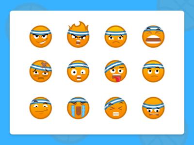 Baller Emoticons design smile cool illustration expressions character app sport emoji emoticon