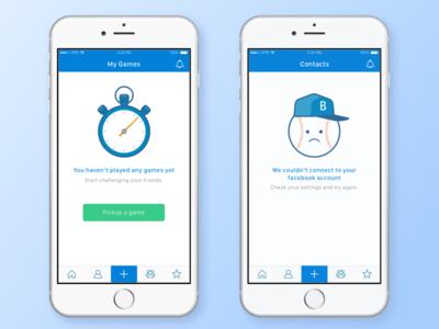 Sport App designcharactersempty appbasketballcharacter