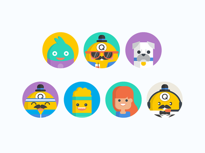 Bingo Game Avatars bingo game graphics illustration character design characters avatars