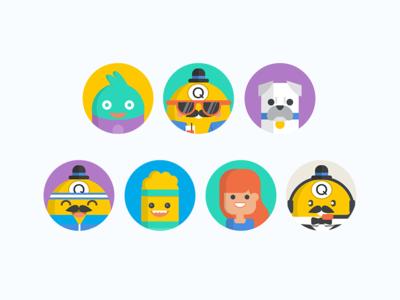 Bingo Game Avatars bingo game graphics illustration character design characters avatars