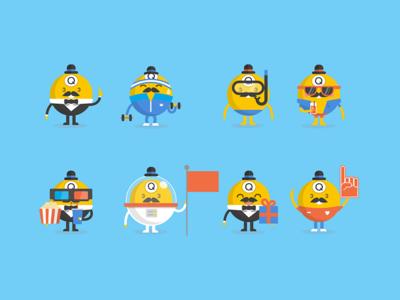 Bingo Characters bingo graphics illustration mascot character design character