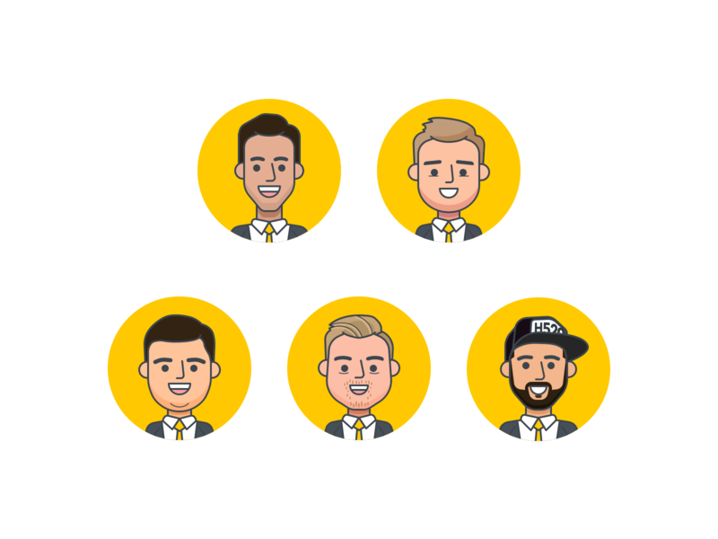 Euro BOB avatar design mobile illustration avatar character design flat design ui ux android iphone app