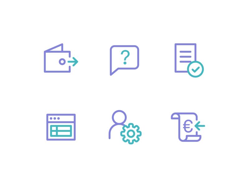 SchoolPay icon design icons icon design line icons school onboarding ui ux web app