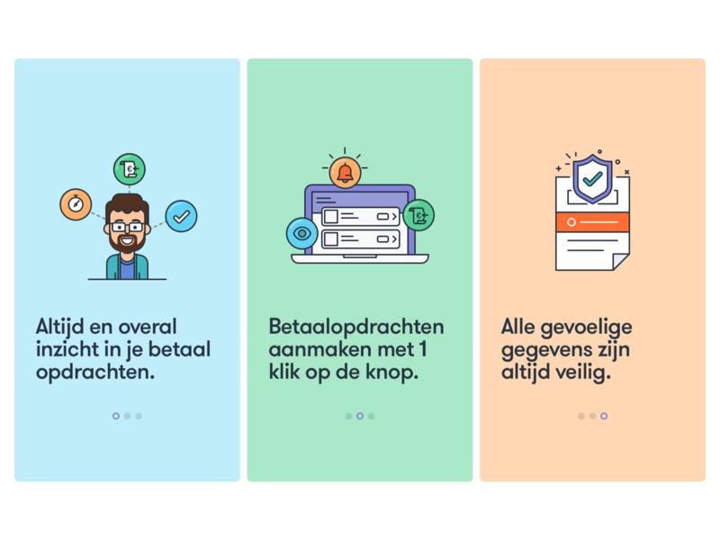 SchoolPay onboarding vector onboarding webapp character illustration school finance netherlands ui ux dashboard mobile application