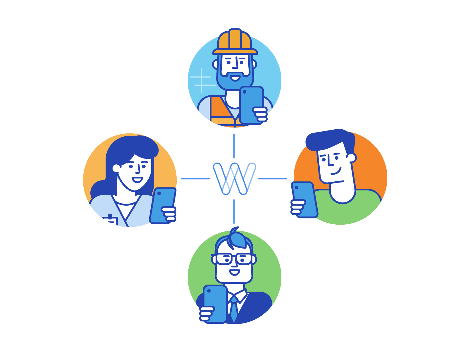 Dribbble workbookers onboarding illustration1
